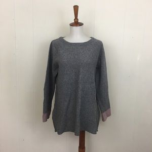 Nanette Lepore Crew Neck Side Zip Sweater